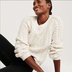 Abercrombie & Fitch cable knit fisherman's sweater